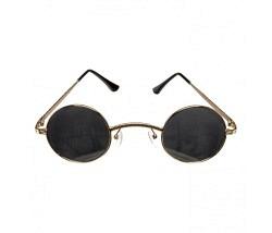 Brille mit runden dunklen Gläsern